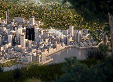 آبجکت های آماده شهر در نرم افزار Maya