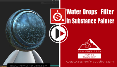 Water Drops Filter in Substance Painter